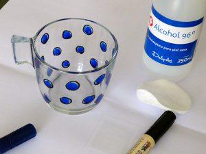 Pintar tazas azul