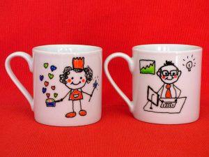 Pintar tazas papa y mama