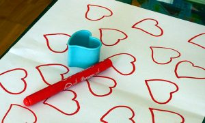 Papel de corazones