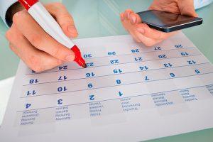 crear un calendario familiar