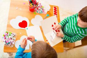 Celebrar San Valentin con hijos