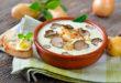 Crema a la pimienta verde con foie y trufa