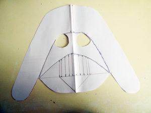 Disfraz de Darth Vader mascara papel