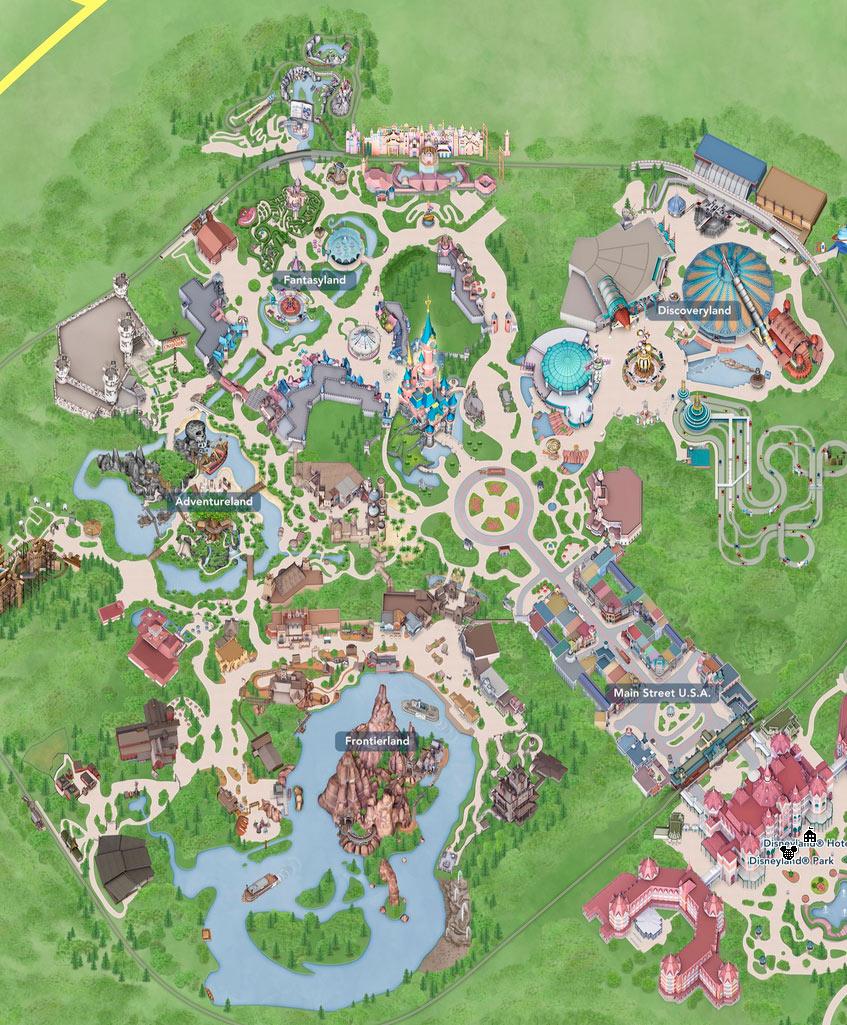 Zonas de Disneyland Paris